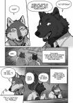 """... 2015 anthro bar black_body black_fur black_nose blush canine cheek_tuft chest_tuft chin_tuft clothed clothing comic duo ear_tuft ears_up english_text eyes_closed fangs fur grey_body grey_fur greyscale happy hi_res kemono looking_at_viewer looking_away male male/male mammal manga maririn monochrome neck_tuft nervous open_mouth plain_background sharp_teeth shirt smile speech_bubble sweat teeth text thought_bubble tongue tongue_out translated tuft white_background white_body white_clothes white_fur white_shirt wolf  Rating: Safe Score: 4 User: HIMofangels Date: June 22, 2015"""""""