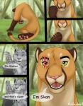 agent blue_eyes comic cougar dialogue digital_media_(artwork) english_text feline female feral hi_res leopard malaika4 male mammal outside red_eyes scar shalien skan_drake snow_leopard speech_bubble text the_monster_within  Rating: Safe Score: 15 User: Skan Date: April 19, 2016