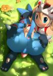 anus balls big_butt blue_eyes butt butt_grab duo female gaping gaping_anus hand_on_butt high-angle_shot human looking_at_viewer looking_back lucario male mammal nekokagebevil nintendo paws penis pinching pokémon presenting presenting_hindquarters red_eyes spread_butt spreading video_games   Rating: Explicit  Score: 27  User: LoveIsThePrice  Date: November 19, 2014