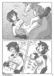 anthro blush breasts canine comic dialogue english_text fangs female hair human locofuria male mammal monochrome navel nipples open_mouth text transformation were werewolf wolf  Rating: Explicit Score: 1 User: nobeca Date: November 17, 2013