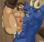 2012 abs against_wall alistar anal anal_penetration anthro balls biceps big_muscles big_penis blue_body bovine cattle clenched_teeth cum cumshot duo erection graves hair human human_on_anthro interspecies league_of_legends maldu male male/male mammal muscles nipples nude orgasm pecs penetration penis red_eyes sex stand_and_carry_position standing sweat teeth uncut vein video_games   Rating: Explicit  Score: 12  User: Kakuya  Date: January 02, 2013