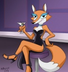 """2014 bar bar_stool cocktail fauna_fox female heresy_(artist) high_heels looking_at_viewer makeup necklace solo  Rating: Safe Score: 1 User: ktkr Date: July 03, 2015"""""""