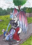 anthro canine child clothed clothing cloud dragon drako drakoilex family female male mammal outside reptile scalie sky standing starlightsmarti stroller young  Rating: Safe Score: 0 User: slyroon Date: October 10, 2015