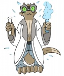 ambiguous_gender anthro artificial clothing digital_media_(artwork) eyewear kobold plastic pool_toy reptile rubber scalie science solo transformation trout_(artist)  Rating: Questionable Score: 2 User: Guffin Date: April 21, 2016