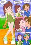 brown_eyes brown_hair clothed clothing comic digimon duo english_text female hair human jeri_katou male mammal not_furry outside prophet takato_matsuki text young  Rating: Safe Score: 2 User: Granberia Date: June 11, 2015""