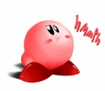 ambiguous_gender black_eyes grumpy kirby kirby_(series) nintendo not_furry pink_body powerjam simple_background solo text video_games white_background  Rating: Safe Score: 0 User: powerJAM Date: June 27, 2015