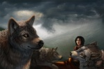 black_hair black_nose brown_fur canine clothing cloud female feral fur goodwolf group hair human landscape latex_(artist) looking_at_viewer mammal mountain orange_eyes outside raining storm_clouds wolf   Rating: Safe  Score: 6  User: latexart  Date: April 22, 2015