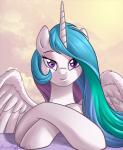 2016 brian_mcpherson equine feathered_wings feathers female friendship_is_magic hair horn long_hair looking_at_viewer mammal multicolored_hair my_little_pony princess_celestia_(mlp) purple_eyes smile solo winged_unicorn wings  Rating: Safe Score: 19 User: lemongrab Date: January 11, 2016