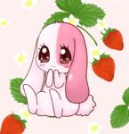anthro blush brown_eyes cute eyelashes female fur happy_happy_clover japanese lagomorph long_ears lop_eared_bunny lop_eared_rabbit mallow mammal meru mimix pink_fur pixiv rabbit sayuri_tatsuyama short_fur sitting smile solo strawberry   Rating: Safe  Score: 3  User: CloverTheRabbit  Date: February 07, 2015