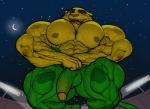 abs anthro biceps big_muscles big_pecs feline flexing fur ginga green_fur humanoid_penis hyper hyper_muscles jaguar looking_at_viewer low-angle_shot male mammal mascot multicolored_fur muscles naughty_face nipples olympics open_mouth pecs penis ripped-saurian solo spots spotted_fur two_tone_fur vein view_from_below yellow_fur  Rating: Explicit Score: 1 User: LoboBobo Date: August 15, 2015