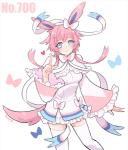<3 blue_eyes bow breasts clothing dress eeveelution female gijinka hair human mammal nintendo pink_hair pokémon shinzui_(fantasysky7) smile solo sylveon unknown_artist video_games  Rating: Safe Score: 7 User: ROTHY Date: August 25, 2015