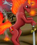 aircraft airplane blood cobra-mcjingleballs cutie_mark dagger equine feral fire horse jet male mammal melee_weapon my_little_pony pony red_body red_eyes skull soldier solo sword tank vehicle war weapon  Rating: Safe Score: -4 User: parasprite Date: March 10, 2015