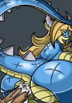 anal anal_penetration anthro anus big_breasts big_butt black_background blonde_hair blue_skin breasts butt canastus crown cum cumshot dragon ear_piercing female hair horn jewelry koopa lizard long_tail male mario_bros nintendo nude orgasm penetration piercing pussy reptile rosalina_(mario) scales scalie simple_background solo spikes super_mario_galaxy transformation video_games  Rating: Explicit Score: 6 User: Canastus Date: October 29, 2015