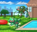 balls blue_skin bulbasaur cum cumshot duo ejaculation erection feral green_balls jardenon male male/male nintendo orgasm penis pokémon pokémon_(species) shell squirtle swimming_pool tapering_penis video_games waterRating: ExplicitScore: 5User: behverzhDate: November 28, 2017