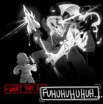 blinkpen english_text female human knife male mammal melee_weapon monochrome not_furry polearm ponytail protagonist_(undertale) spear text undertale undyne video_games weapon  Rating: Safe Score: 4 User: Nuji Date: October 02, 2015