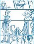 2015 basitin cape clothing comic digitigrade dragon eyewear female glasses group human hybrid keith_keiser male mammal outside sarah_(twokinds) scalie simple_background sketch tom_fischbach twokinds weapon white_background  Rating: Safe Score: 1 User: Shingen Date: August 27, 2015