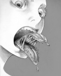 drooling fangs female hanji monochrome monster monster_girl saliva simple_background tongue tongue_out what  Rating: Questionable Score: 1 User: Acolyte Date: August 31, 2015