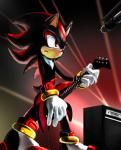 anthro black_nose clothing footwear gloves male musical_instrument shadow_the_hedgehog smile solo sonic_(series) tetora video_games  Rating: Safe Score: 4 User: Cαnε751 Date: December 05, 2015