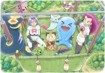 2012 aircraft aishaaudebarn balloon basket cacnea chimecho delibird detailed_background dustox ekans fangs female forest group guitar hot_air_balloon human james_(team_rocket) jessie_(team_rocket) koffing male mammal musical_instrument nintendo outside path pokémon sandbags seviper smile team_rocket tree video_games weezing wobbuffet