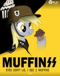 2011 derpy_hooves_(mlp) english_text equine female feral food friendship_is_magic helmet horse mammal muffin my_little_pony nazi parody pony poster propaganda solo ss text uniform wolfjedisamuel ww2   Rating: Safe  Score: 5  User: Munkelzahn  Date: October 30, 2011