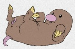 claws cute diglett female feral nintendo pencil_(artwork) pokémon pussy python13rp simple_background solo traditional_media_(artwork) video_games white_background yaroul