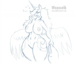 2015 anthro anthrofied big_breasts breasts equine female friendship_is_magic hair holding horn huge_breasts long_hair mammal my_little_pony navel nude open_mouth princess_luna_(mlp) solo weasselk wide_hips winged_unicorn wings yawn  Rating: Questionable Score: 3 User: lemongrab Date: September 04, 2015