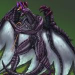2015 animal_genitalia anthro black_scales cane capcom claws cloaca dragon fred glowing glowing_eyes gore_magala green_background hat hi_res male monster monster_hunter mykiio nude purple_eyes purple_scales scales scalie simple_background solo video_games wings wyvern  Rating: Explicit Score: 9 User: PokemonArtist Date: September 17, 2015