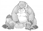 anthro balls bear big_balls cuddling duo flaccid grisser hug hyper hyper_balls licking male male/male mammal nude overweight penis sheath size_difference tanuki tongue tongue_out   Rating: Explicit  Score: 9  User: toboe  Date: March 24, 2013