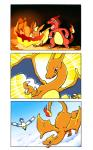 ambiguous_gender charizard charmeleon comic dragon eeveelution fire flareon nintendo orange_body orange_skin outside pokémon scalie sky video_games wingull 真吉  Rating: Safe Score: 2 User: slyroon Date: December 25, 2015