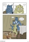 2015 after_sex anthro anthro_on_anthro anthro_penetrated anthro_penetrating anthro_penetrating_anthro armor blue_body blue_scales blush bodily_fluids boots brown_body brown_fur buckteeth bugbear clothing comic cup dialogue dizzy dragonborn dungeons_and_dragons duo embarrassed english_text exhausted fellatio footwear fur furniture gavrok gnoll good_boy green_body green_scales group harness hasbro head_grab hi_res horn hyaenid kavorog kneeling kobold lying male male/male male_penetrated male_penetrating male_penetrating_male mammal mostly_nude murid murine muskie nodding nude on_back on_front oral pauldron penetration penile rat rodent rubbing_head scales scalie seeing_stars sex sitting sleeping speech_bubble spines sweat table tablecloth tailwag teeth tent text tired tolok url whiskers wizards_of_the_coast wrist_cuff zin