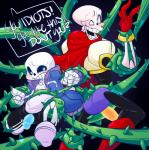 bdsm bondage bone bound brothers chubby elatedsceptre glowing glowing_penis male male/male open_mouth papyrus_(undertale) penis sans_(undertale) sibling skeleton undertale video_games vines  Rating: Explicit Score: 3 User: Struudae Date: November 12, 2015