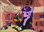 2012 alcohol applejack_daniel's beverage book drinking english_text equine female friendship_is_magic hair horn horse mca_jabberwocky my_little_pony pony purple_eyes purple_hair rock_n_roll text twilight_sparkle_(mlp) unicorn   Rating: Safe  Score: 4  User: Mca_Jabberwocky  Date: March 07, 2012