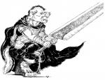 anime anthro armor berserk black_and_white canine clothing comic cosplay male mammal manga monochrome plain_background solo sword treefyleaves weapon white_background wolf   Rating: Safe  Score: 1  User: Misappropriated  Date: March 22, 2014
