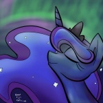 2014 blue_hair captain64 cute equine eyes_closed female feral friendship_is_magic goattrain hair horn horse mammal my_little_pony pony princess_luna_(mlp) smile solo winged_unicorn wings   Rating: Safe  Score: 9  User: Robinebra  Date: March 05, 2014