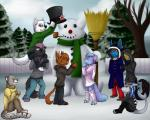 2014 anthro bovine canine cattle clothed clothing cub feline female fish fur group horn leopard lucario male mammal marine mintchip nintendo open_mouth pokémon shark smile snow_leopard video_games wolf young  Rating: Safe Score: 4 User: RiverwalkerWolf Date: November 22, 2015