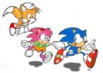 amy_rose anthro blue_body blue_fur blue_hair canid canine eulipotyphlan female fox fox_tail fur group hair hedgehog low_res male mammal miles_prower multi_tail pink_fur pink_hair rosy_the_rascal simple_background sonic_(series) sonic_the_hedgehog unknown_artist white_background