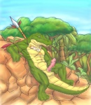 abs alligator anthro balls barefoot biceps claws cum erection humanoid_penis male masturbation mudwolfy muscles nature necklace nude orgasm outside penis polearm precum reptile rock scalie solo spear tribal   Rating: Explicit  Score: 45  User: Akz  Date: September 21, 2011