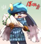 anthro blush clothing cute daww flower girly klonoa klonoa_(series) male plant shaolin_bones smile solo sweater  Rating: Safe Score: 8 User: Lionxie Date: February 05, 2016