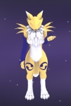 anthro breasts canine clothing compression_artifacts digimon female fluffy fluffy_tail fox fur gloves kishin mammal model renamon slim solo standing white_fur yellow_fur   Rating: Questionable  Score: 2  User: Pinki-Husky  Date: April 13, 2012