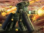 armor blue_eyes earth_pony equine fan_character female green_hair hair helmet hi_res horse mammal my_little_pony outside pony short_hair solo tank vavacung vehicle weapon  Rating: Safe Score: 11 User: Pasiphaë Date: February 01, 2016