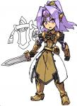 aegislash armor boots clothing cute elf_ears female footwear gijinka gloves hair human kusanagikaworu mammal melee_weapon nintendo open_mouth pokémon purple_eyes purple_hair shield simple_background solo standing sword teeth video_games weapon  Rating: Safe Score: 2 User: DeltaFlame Date: April 01, 2015