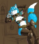 armor bite brown_background canine dangerous fox green_eyes hattonslayden jewelry krystal mammal nintendo pads pawpads plain_background scantily_clad simple_background sitting smile solo star_fox video_games   Rating: Questionable  Score: 8  User: Cornell  Date: February 26, 2014