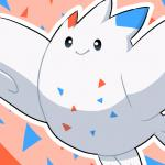 ambiguous_gender cel_shading feral nintendo nude outline pokémon smile solo togekiss unknown_artist video_games wings