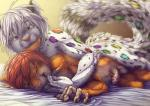 2017 anthro balls bars bed bed_sheet bedding bite cat ear_biting erection feline finger_lick fluffy fluffy_tail green_eyes hair leopard male male/male mammal on_bed penis purple_eyes rainbow red_hair romantic_couple sex simple_background skittles snow_leopard snowmew under_covers white_hairRating: ExplicitScore: 14User: randombuttDate: March 21, 2017