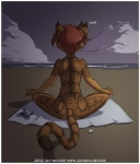 2012 anthro arthropod back beach cat crab crustacean digital_media_(artwork) feline female jay_naylor mammal marine meditation nude outside rear_view seaside solo zoe_(jay_naylor)   Rating: Safe  Score: 44  User: ippiki_ookami  Date: June 08, 2012