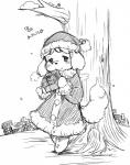 animal_crossing anthro clothing female hat isabelle_(animal_crossing) kemono monochrome nintendo setouchi_kurage solo video_games winter  Rating: Safe Score: 3 User: GONE_FOREVER Date: July 12, 2015