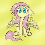 equine female feral fluttershy_(mlp) friendship_is_magic frown fur green_eyes hair ichibangravity long_hair looking_at_viewer mammal my_little_pony pegasus pink_hair plain_background sitting solo wings yellow_background yellow_fur   Rating: Safe  Score: 17  User: Deatron  Date: November 29, 2013