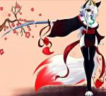 2014 aditimalal anthro beige_background breasts canine cat color demon feline female front_view fur japanese lilith looking_at_viewer mammal monochrome red_eyes restricted_palette solo standing sword weapon   Rating: Safe  Score: 13  User: Aditimalal  Date: January 25, 2015