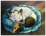 arctic_fox canine cute eyes_closed feral fox fur lagomorph marymouse rabbit sleeping solo white_fur   Rating: Safe  Score: 3  User: Caroway  Date: April 04, 2010