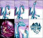 2003 anthro blue_scales claws comic dragon duo english_text female flower hair holding horn human internal intestines low_res male mammal markie nude open_mouth outside pink_eyes plant purple_scales scalie size_difference slit_pupils teeth text tongue vore wings   Rating: Questionable  Score: -1  User: GameManiac  Date: March 30, 2015